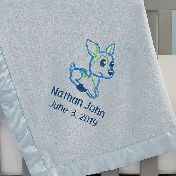 Embroidered Deer Baby Blankets - 22314