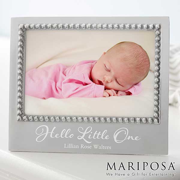 Mariposa Personalized Baby Picture Frame - 22337