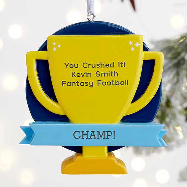 You Crushed It! Personalized Trophy Ornament - 22441