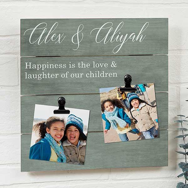 Personalized Shiplap Photo Clip Frames - 22470