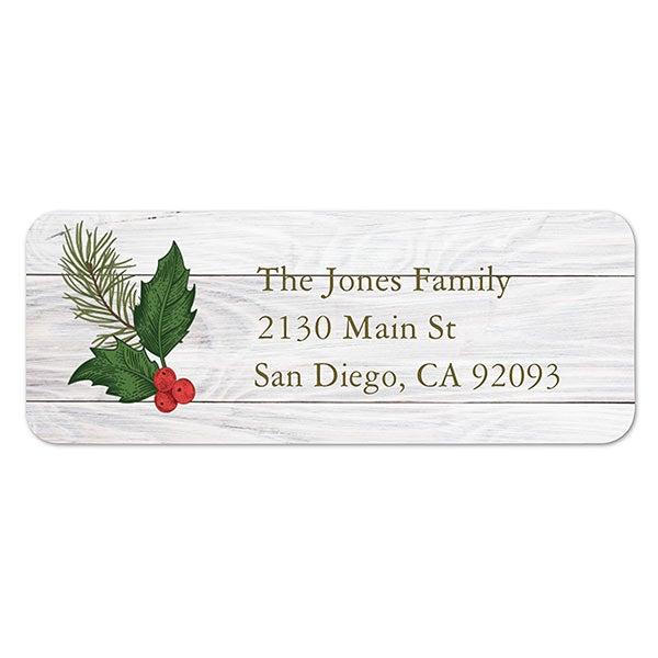 Christmas Address Labels.Merry Christmas Botanical Address Labels