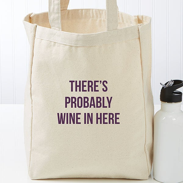 Expressions Personalized Canvas Tote Bags - 22615