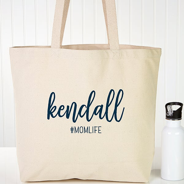 Personalized Canvas Tote Bags - Scripty Style - 22626