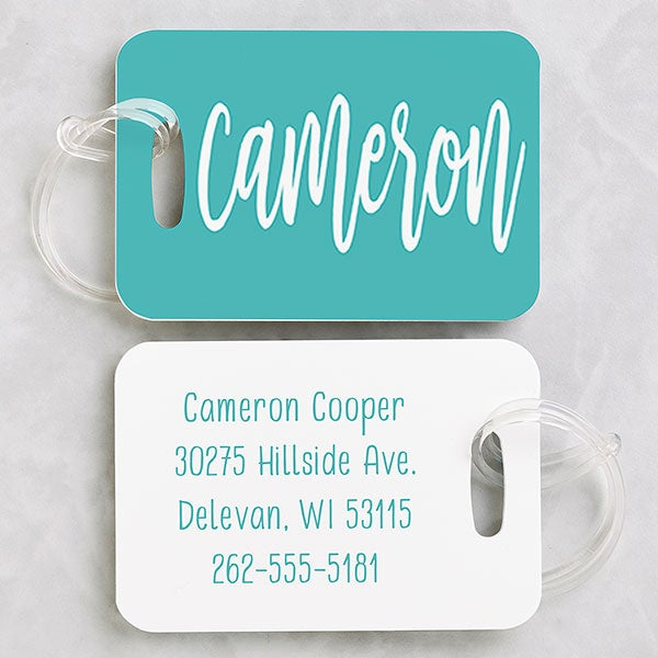 Scripty Style Personalized Luggage Tag 2 Pc Set