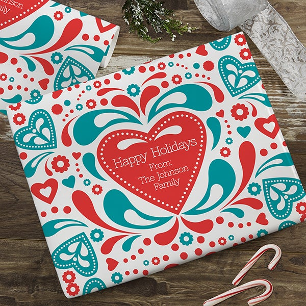 Scandinavian Holiday Personalized Wrapping Paper - 22655