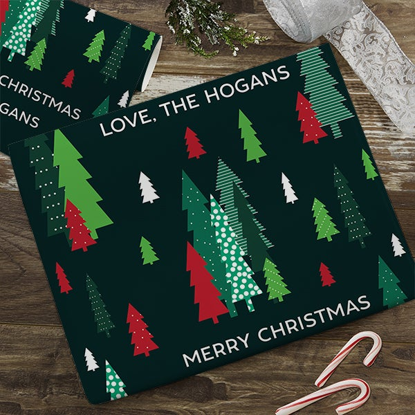 Simple Trees Personalized Wrapping Paper  - 22669