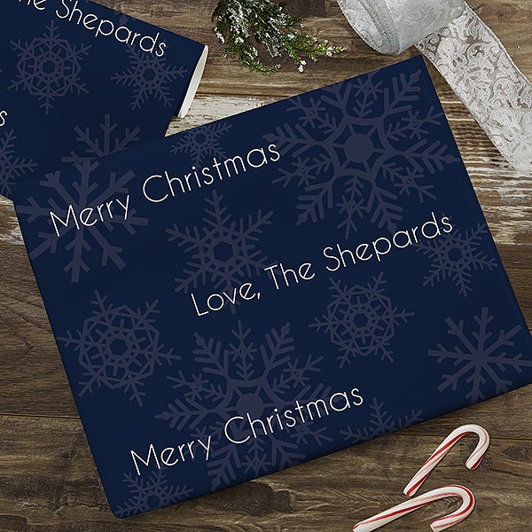 Snowflakes Personalized Wrapping Paper - 22670