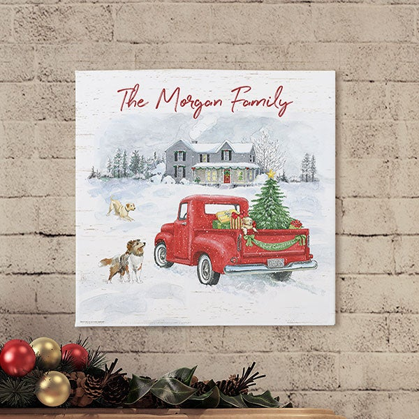 Farmhouse Holidays Personalized Canvas Prints - 22721