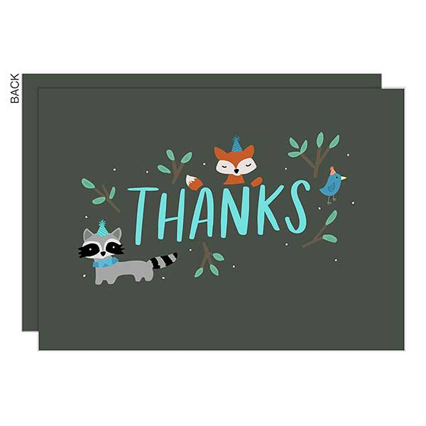 Wild One Premium Birthday Thank You Cards