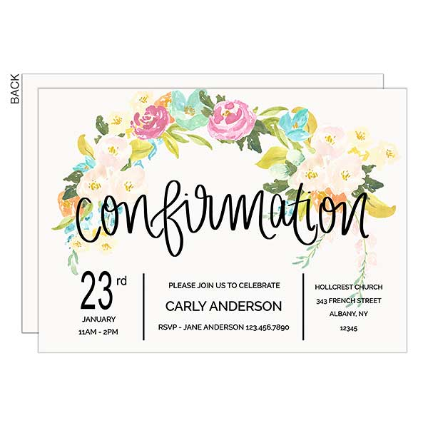 Confirmation Personalized Party Invitations