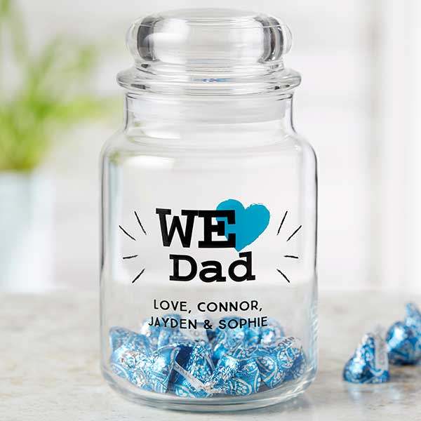 We Love... Personalized Glass Treat Jar For Him - 22861