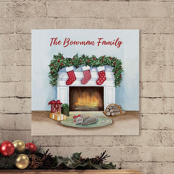 Night Before Christmas Personalized Canvas Prints - 22897