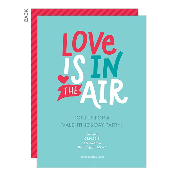Love is in the Air Personalized Party Invitations - 22908