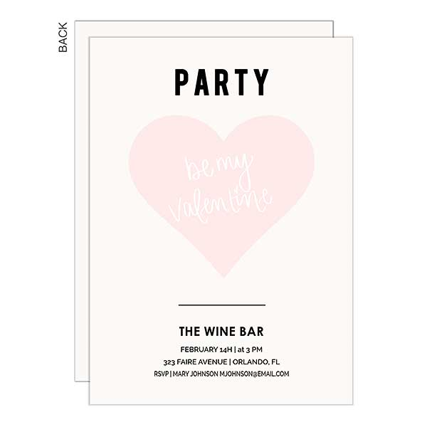 Be My Valentine Personalized Party Invitations - 22939