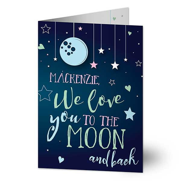 Love You To The Moon /& Back Romantic Greetings Card
