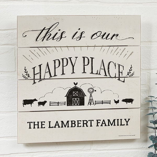 This Is Our Happy Place Sign Personalized - 22983