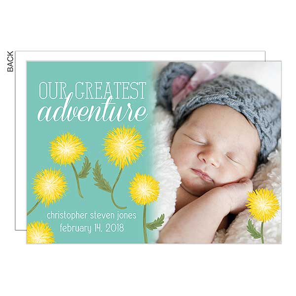 Our Greatest Adventure Personalized Birth Announcements - 23034