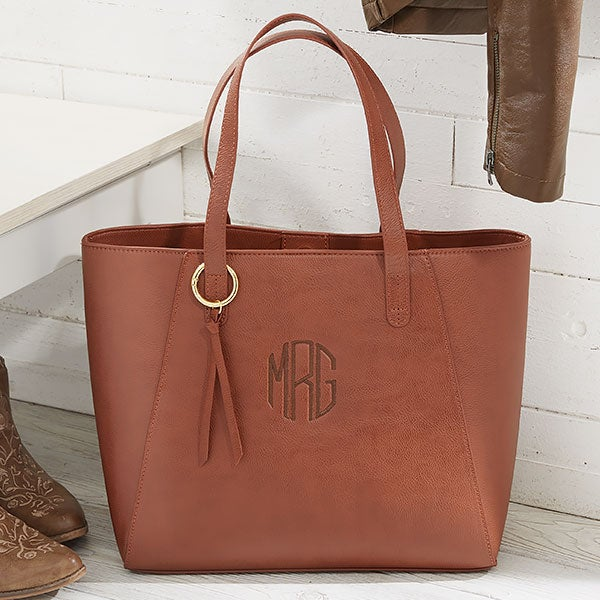 Women's Embroidered Imported Camel Tote Bag