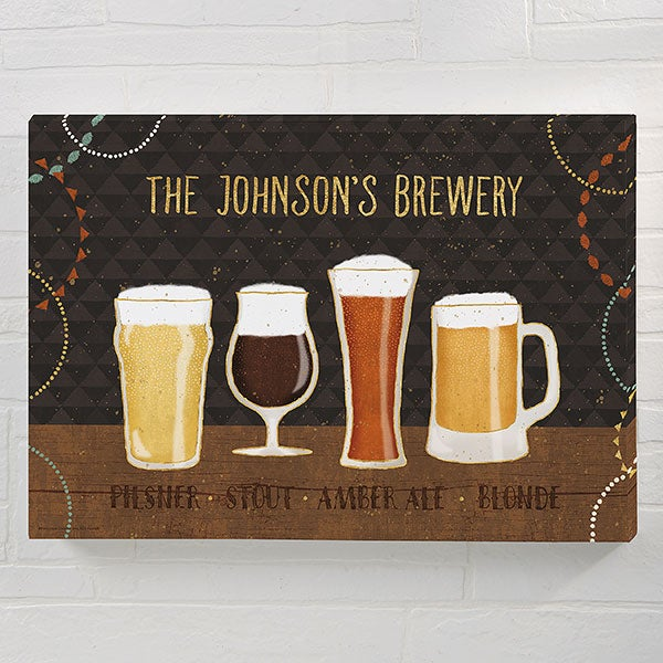 Beer Suds Beer Art Personalized Canvas Prints - 23079