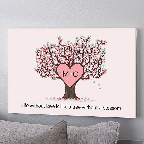 Tree Of Love Personalized Canvas Prints - 23094