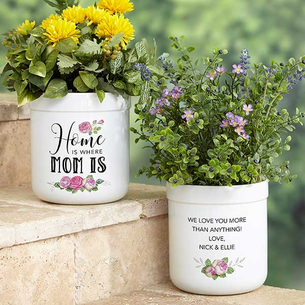 Home Is Where Mom Is Personalized Flower Pot - 23115