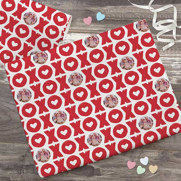 XOXO Photo Collage Personalized Wrapping Paper - 23188