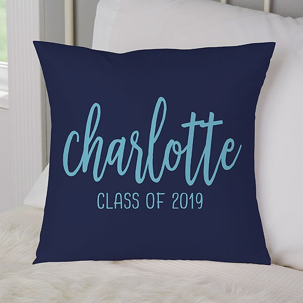 Scripty Style Personalized Graduation Throw Pillows - 23208