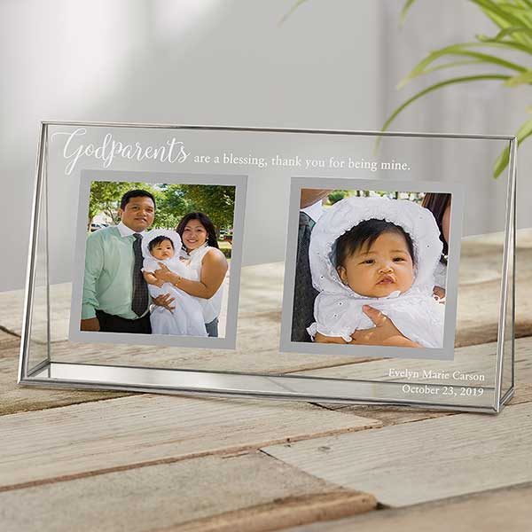 Personalised Photo Frame /& Plaque New Baby Keepsake Godparents
