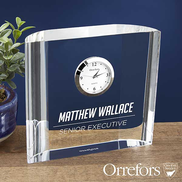 Orrefors Engraved Crystal Clock Gift - 23240