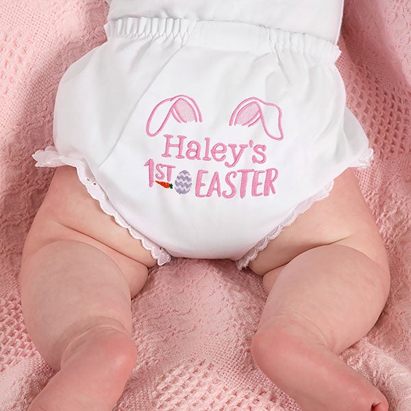 Personalized Baby Bloomers Diaper Covers - Baby's First Easter - 23334