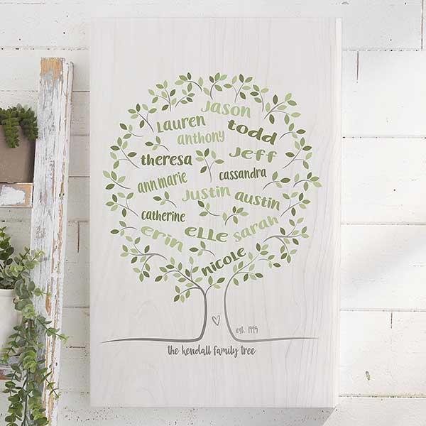 Personalized Family Tree Wall Art - Family Tree Of Life - 23357