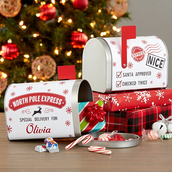 Christmas Mailbox.Special Delivery From Santa Personalized Christmas Metal Mailbox