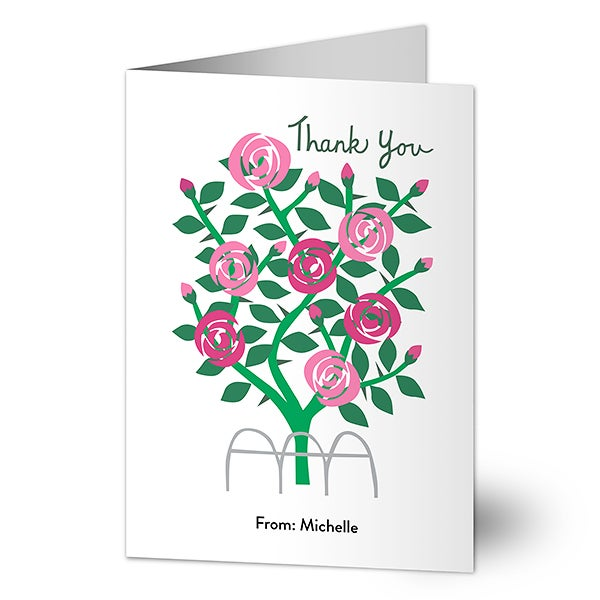 Thank You Roses Personalized Thank You Cards - 23372