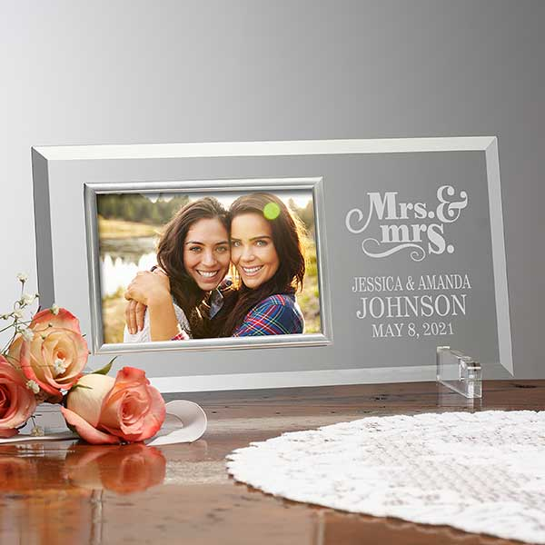 Wedding frame Wedding photo frame Wedding picture frame personalized Mr and mrs frame Mr mrs frame personalized Rose gold frame