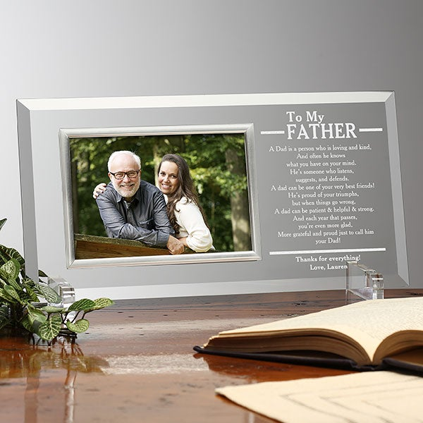 Personalized Glass Picture Frames For Him - 23389