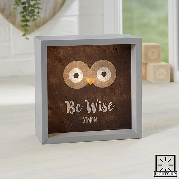 Personalized LED Shadow Box - Woodland Adventure Owl - 23405