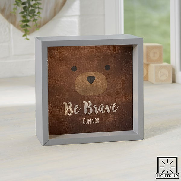 Personalized LED Shadow Box - Woodland Adventure Bear - 23406