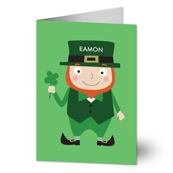 Lucky Leprechaun Personalized St. Patrick's Day Cards - 23417