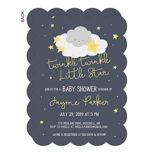 6ff5815fd6496 Twinkle, Twinkle Baby Shower Invitation