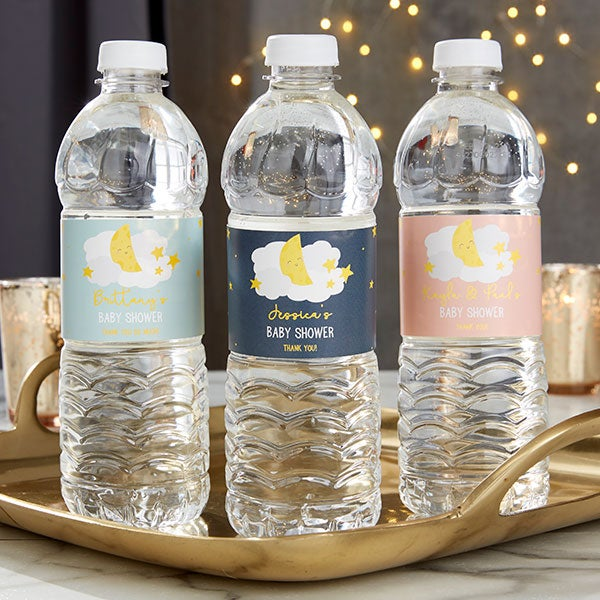 Personalized Water Bottle Labels For Baby Shower Twinkle Twinkle