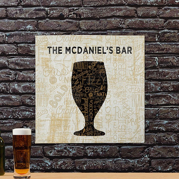 Personalized Beer Art Canvas Prints - Cheers For Beers Goblet - 23485
