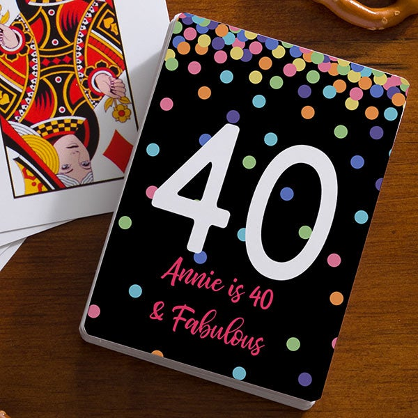 Birthday Confetti Personalized Playing Cards