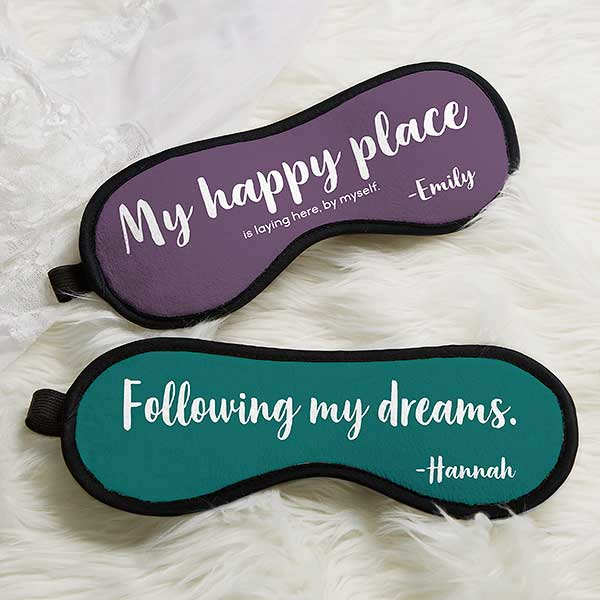 Funny Quotes Personalized Sleep Mask