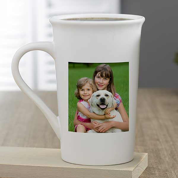 Pet Photo Personalized Tall Latte Coffee Mug Photo Gifts