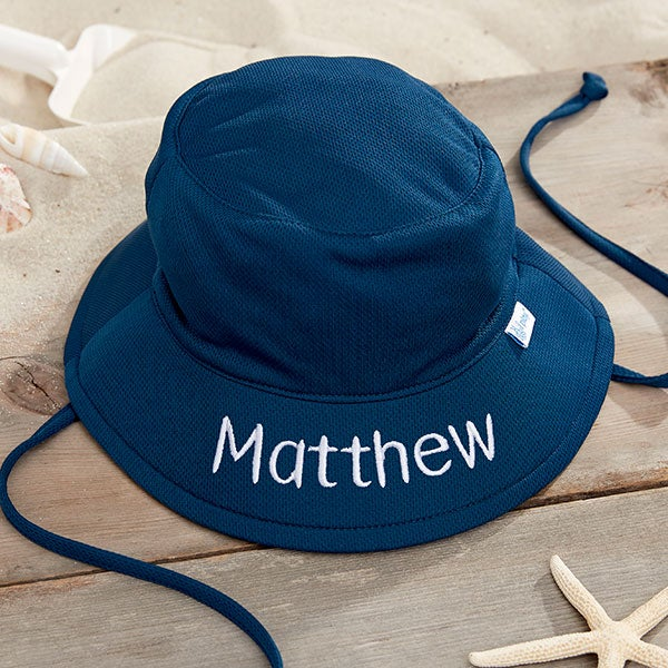 6400e2b5c9262 Custom Embroidered Navy Baby   Toddler Swim   Sun Hat by i play.
