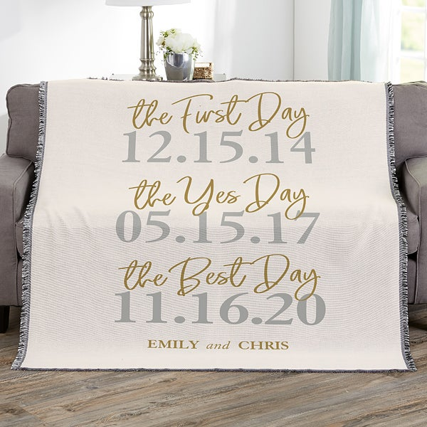 The Best Day Personalized 56x60 Wedding Woven Throw Wedding Gifts,Farmhouse Front Door Wreath Ideas