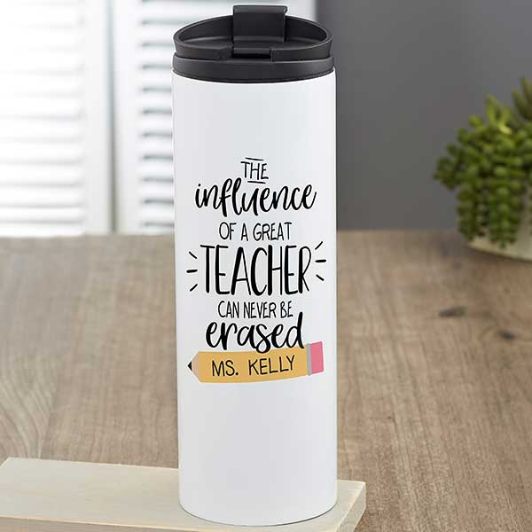 c879744a3c0 The Influence of a Great Teacher Personalized Travel Tumbler - 23839