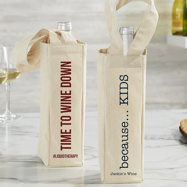 Expressions Personalized Wine Tote Bag