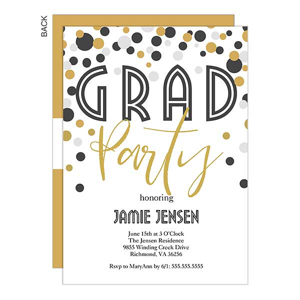 Personalized Graduation Party