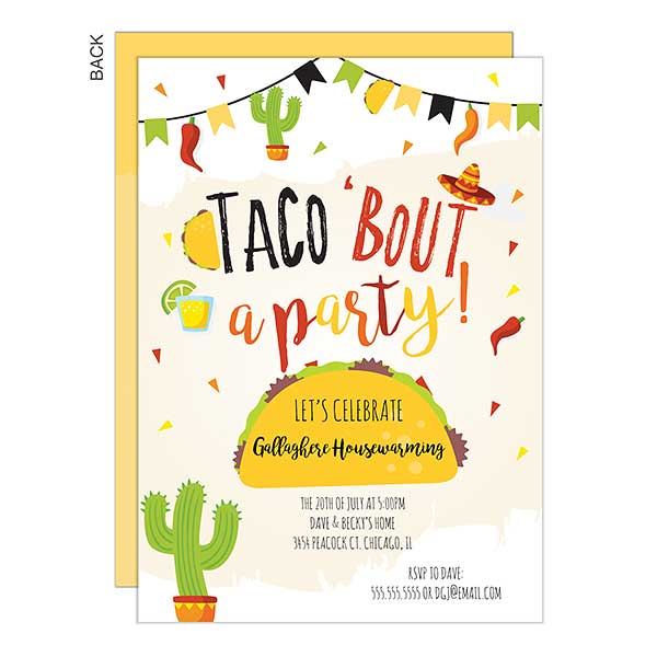 Taco Bout A Party Personalized
